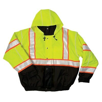 NEW ML Kishigo JS119 HiVis Safety Bomber Jacket Reflective Coat Removable Lining