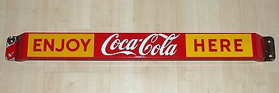 Rare 1959 Canadian Coca-Cola porcelain door push pushbar sign Coke FREE SHIP!