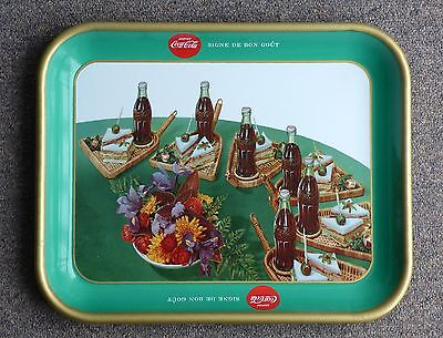 Rare 1957 Coca-Cola COKE French Canadian 'club sandwich' serving tray FREE SHIP!