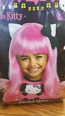 Hello Kitty Child Girls Pink Wig 52874 Rubies