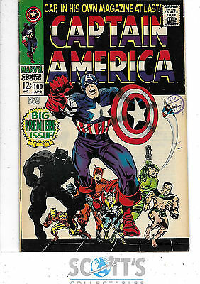 Captain America  #100  FN+  Premier Issue!