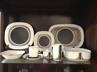 Block Transition Black, Grey, White China, 10 Piece Place Setting