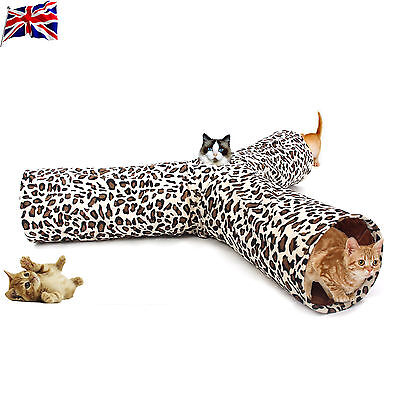 New Pet Tunnels Cat Products Toys Funny Hole Kitten Long Tunnel 3 Ways Toys UK