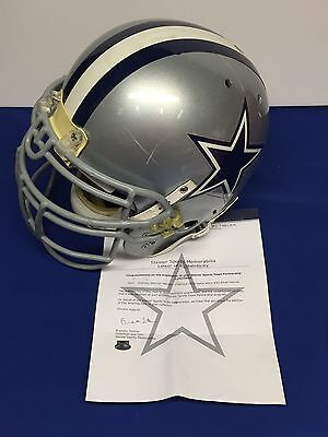 Anthony Spencer Game Used Dallas Cowboys Football Helmet Steiner Sports LOA