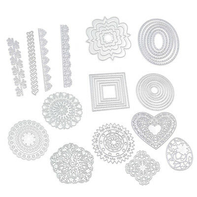 Flower Heart Metal Cutting Dies Stencils DIY Scrapbook Album Paper Card Craft