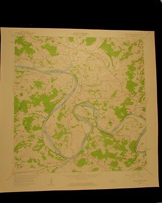 Dixon Springs Tennessee vintage 1959 original USGS Topographical chart