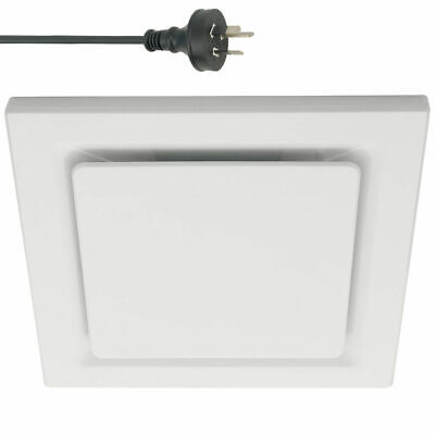 White 20cm Square Ceiling Ducted Exhaust Fan/Air flow/Bathroom/Kitchen/Laundry