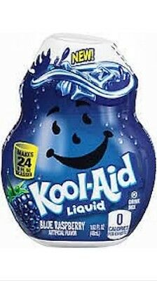 Kool Aid Liquid Drink Mix Blue Raspberry 0 Calories No Sugar 1.62 oz