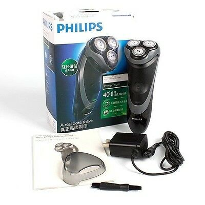 Grey Philips PT725 Power Touch Rechargeable Washable Electric Men's Shaver Gift