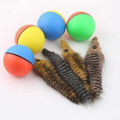 Dog Cat Weasel Motorized Funny Rolling Ball Pet Appears Jump Moving Alive Toy ID