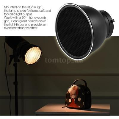 "7"" Standard Lamp Shade with 60° Honeycomb Grid for Bowens Mount Flash Light"