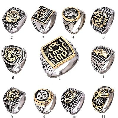 Vintage Mens Masonic Punk Biker Jewelry Stainless Steel wedding band Rings 8-13