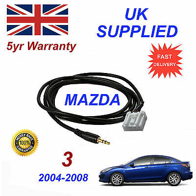 Mazda 3 AUX 3.5mm Input Audio cable High Quality Sound model year 04-08