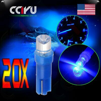 20Pcs T5 Instrument Cluster Panel Gauge Dash LED Bulbs light 17 37 73 74 Blue