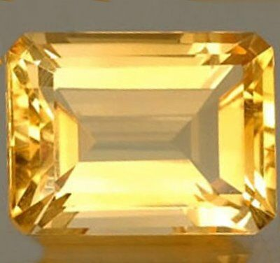NATURAL TOP AAA GOLDEN YELLOW CITRINE LOOSE GEMSTONE (7 x 5 mm) EMERALD-CUT