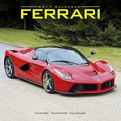 2017 Ferrari Sports Cars Monthly Wall Calendar - 12 x 12 inches Convertible FAST