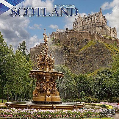 2017 Scotland Monthly Wall Calendar - 12 x 12 inches Travel Photography Britain