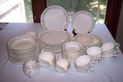 61 Pc Set Paden City PCP 146 Floral & Scroll China