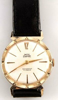 Vintage Mens Vintage Smiths Empire Jeweled Mvmnt Wristwatch