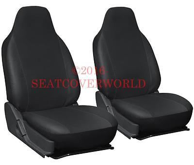 VW LEATHERETTE FRONT SEAT COVERS CC Scirocco EOS Fox Golf Jetta Lupo Passat