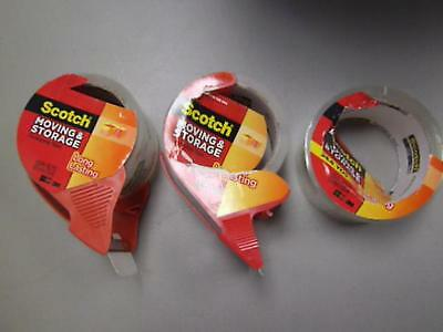 Scotch Moving and Storage Packing Tape NEW 2 Pack Plus Extra Roll