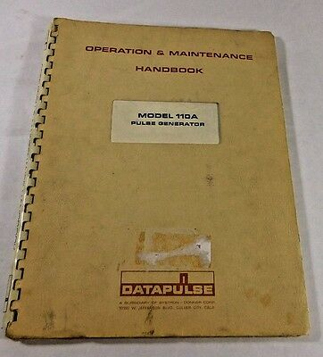 Datapulse 110A Pulse Generator Operation & Maintenance Handbook