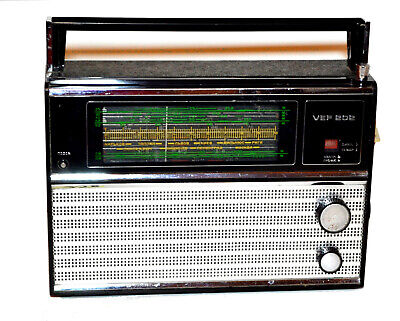 Rare Vintage Soviet Russian USSR LW, MW, SW Radio VEF 202 Tested! Working!