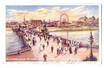 UK Town View Blackpool from the North Pier Pavilion PC 1906