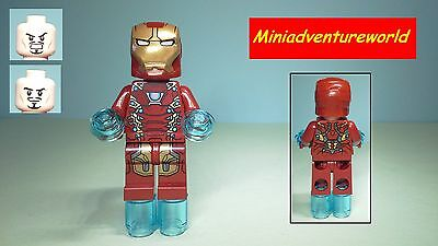 Lego GENUINE NEW Minifigure Iron Man Mark 46 76051 Super ...