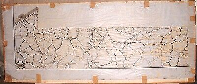ANTIQUE HAND MADE MAP of PENNSYLVANIA on VELLUM PAPER VERY UNIQUE COLONIAL