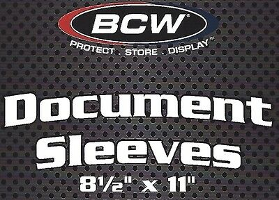 200 New BCW 8.5X11 Protective Sleeves - Photo Menu  2 mil 8.5 X 11 Soft Sleeves