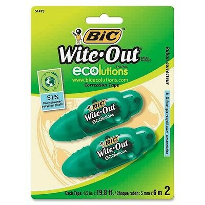 BIC Wite-Out Ecolutions Correction Tape - 2 per pack