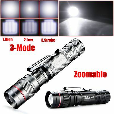 Q5 LED 2000 Lumen Lamp Clip Mini Zoomable Penlight Flashlight Torch Light Lamp