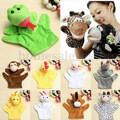 Family Finger Puppets Cloth Doll Glove Baby Educational Hand Cartoon Animal Toy