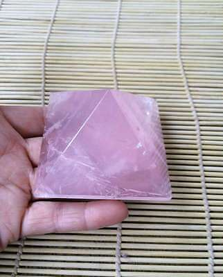 216g  Natural Beautiful Rose Quartz Crystal Pyramid Point Therapy  A0309
