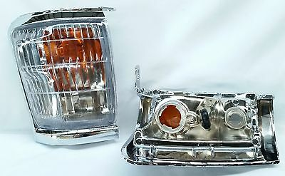 Toyota Hilux Ln85 Ln106 Ln167 98 - 04 Chrome Front Corner Indicator Lights 509