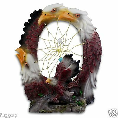 Native American Eagles Dreamcatcher Resin Plaque Detailed Resin Eagle  NEW
