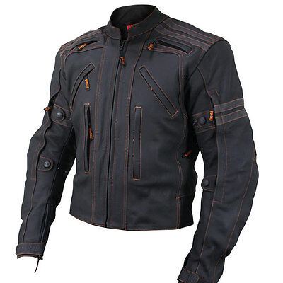 Cruiser Mens Motorbike Leather Sports Jacket Racing Biker Jacket Ce All Sizes