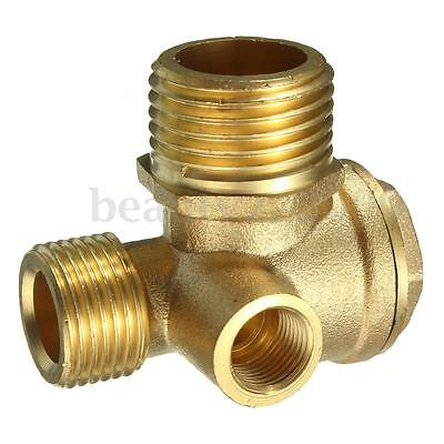 3 Way Air Compressor Spare Parts Male Female Threaded Connector Check Valve