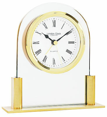 London Clock Company Gold Arch Top Mantel Table Clock With Alarm