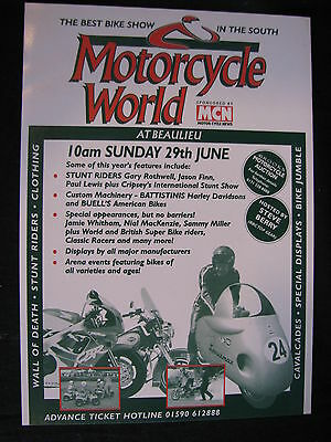 Flyer The Best Bike Show Motorcycle World At Beaulieu 29th June 1997 (JS)