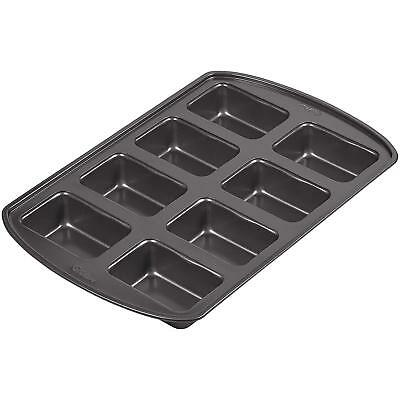 Wilton 8 Cavity Perfect Results Premium Non Stick MINI LOAF Baking Pan Tray Tin