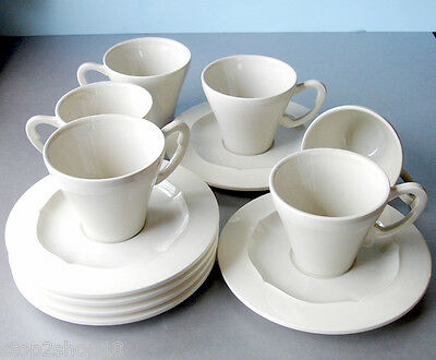 Gien EVOL Tea Cup & Saucer Service for 6 (12-PC. Set ) French Faience Boxed NEW