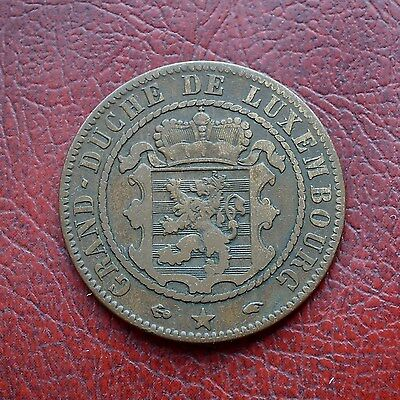 Luxembourg 1860A bronze 10 centimes