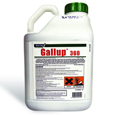 1 x 5L Gallup Amenity 360 Very Strong Professional Glyphosate Weedkiller