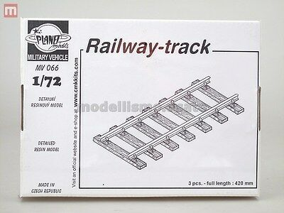 Planet Models Railway-Track 140mm (3) 1:72 Resin MV066 modellismo statico