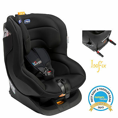 New Chicco Black Oasys Group 1 Isofix Reclining Car Seat Baby Childs Carseat