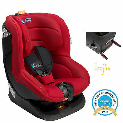 New Chicco Fire Red Oasys Group 1 Isofix Reclining Car Seat Baby Childs Carseat