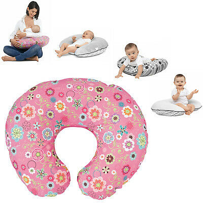 New Chicco Pink Wild Flowers Boppy Nursing Feeding Pillow With Cotton Slip Cover