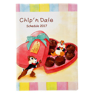 Disney Store Japan 2017 Schedule Book ❤ Chip Dale Clarice B6 Monthly Planner